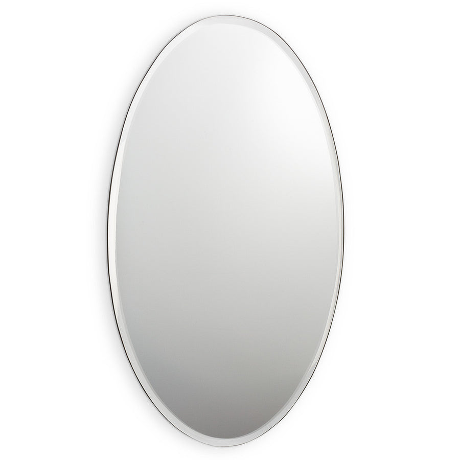 Oval Mirror with Bevel - Large