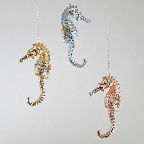 Pastel Glass Seahorse Ornament