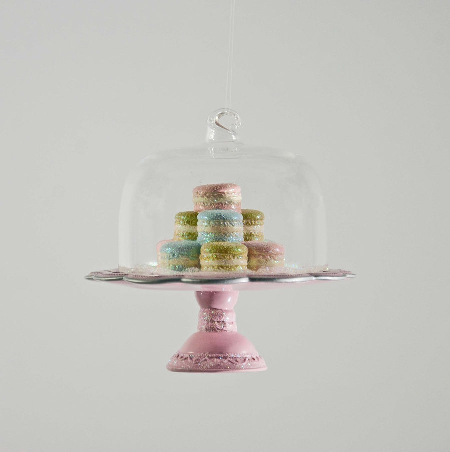 French Macaroon Cake Plate Ornament, KC-Katherine's Collection, Putti Fine Furnishings