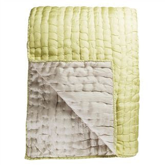 "Designers Guild Quilt Chenevard Silver & Willow-Soft Furnishings-DG-Designers Guild-Standard Quilt 91"" x 91"" ( 230 x 230cm )-Putti Fine Furnishings"
