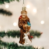 Old Word Christmas St Francis Glass Ornament, OWC-Old World Christmas, Putti Fine Furnishings