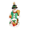 Old Word Christmas Merry Mr Snow Glass Ornament, OWC-Old World Christmas, Putti Fine Furnishings