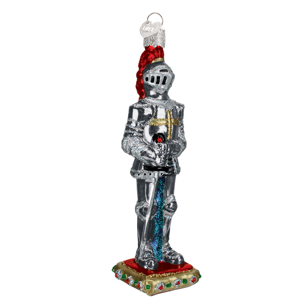 Knight Glass Christmas Ornament