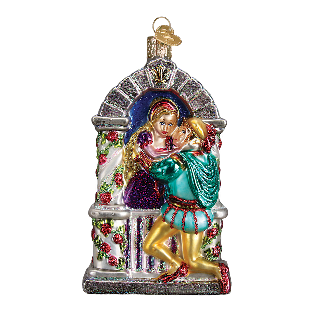 Romeo and Juliet Glass Christmas Ornament, OWC-Old World Christmas, Putti Fine Furnishings