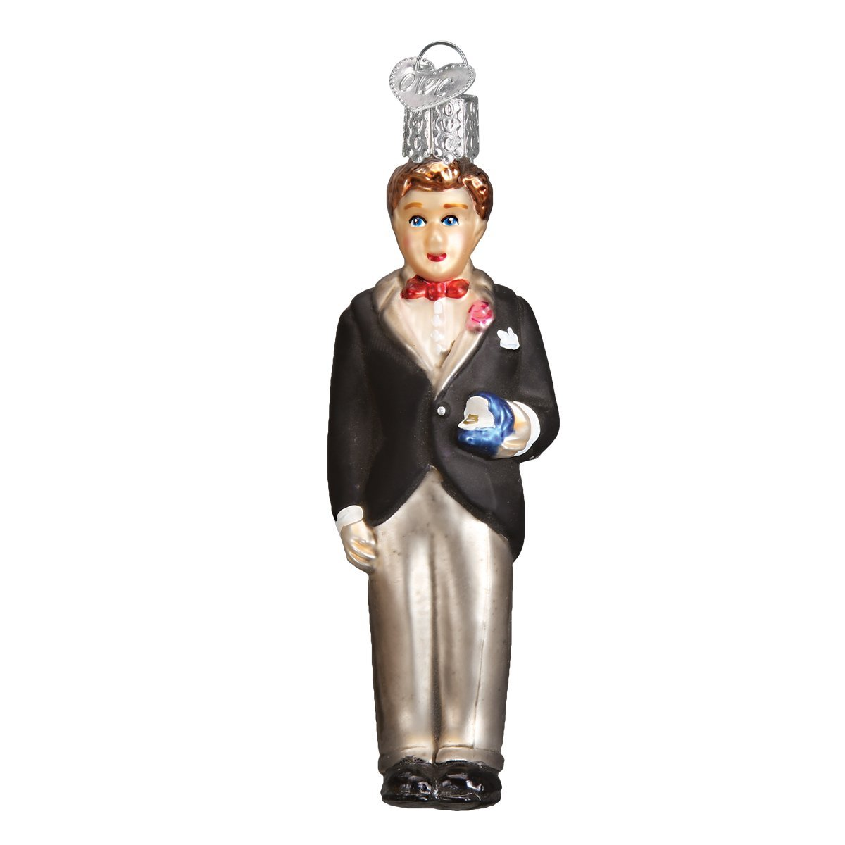 Old Word Christmas Groom Brunette Ornament | Putti Christmas Decorations