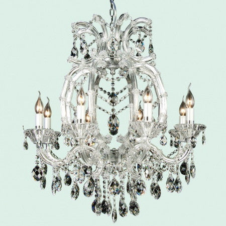 Clear Crystal Chandelier - 8 Light-Ceiling Fixture-BI-Bethel International-Putti Fine Furnishings