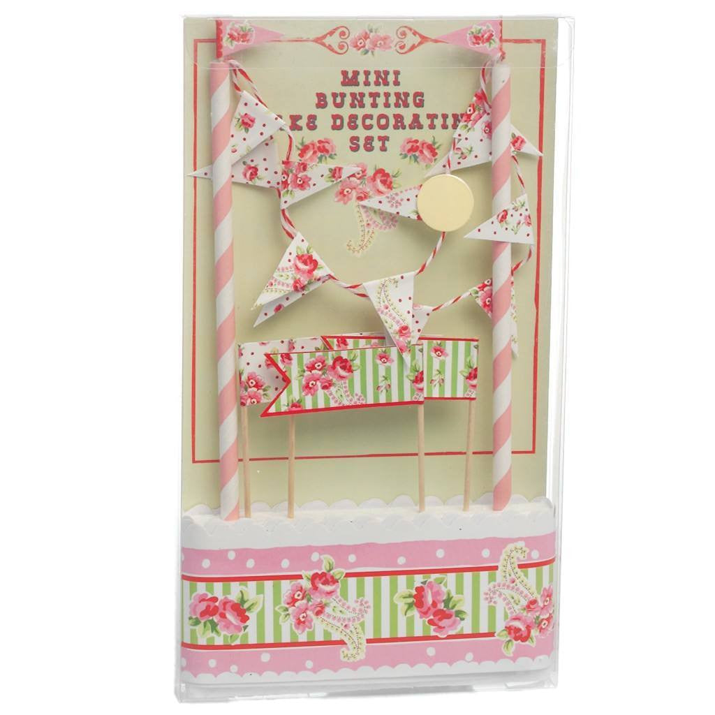 Mini Bunting Cake Decorating Set -  Party Supplies - Talking Tables - Putti Fine Furnishings Toronto Canada - 2