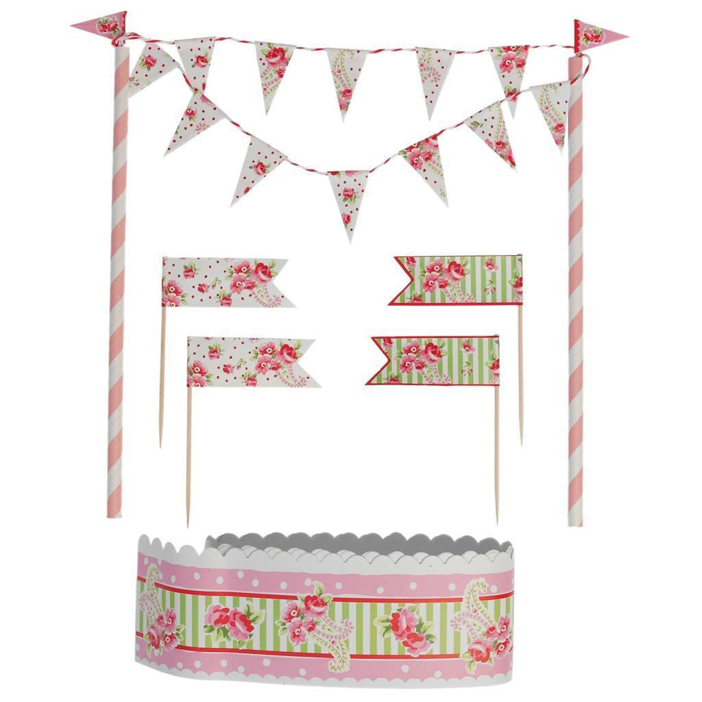 Mini Bunting Cake Decorating Set -  Party Supplies - Talking Tables - Putti Fine Furnishings Toronto Canada - 1
