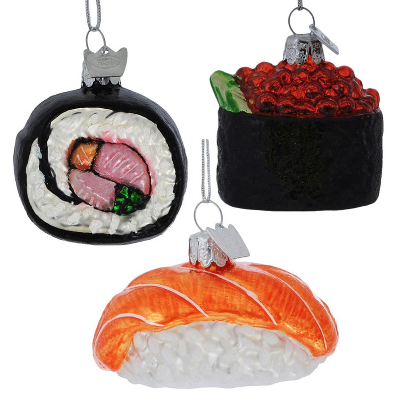 Kurt Adler Maki Sushi Glass Ornament | Putti Christmas Decorations