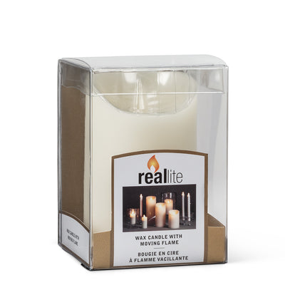 """Reallite"" Ivory Flameless Candle - Small, AC-Abbott Collection, Putti Fine Furnishings"