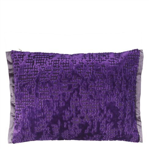 Designers Guild Boratti Violet Throw Pillow-Pillow-DG-Designers Guild-Violet-Putti Fine Furnishings