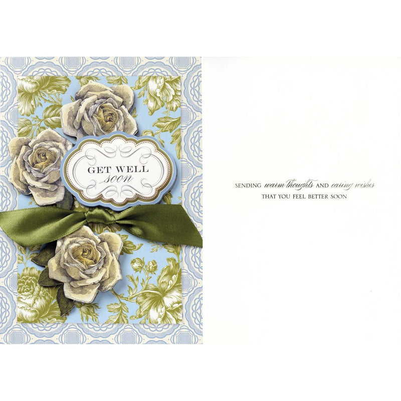 "Anna Griffin ""Get Well Soon"" Greeting Card, Bella Flor, Putti Fine Furnishings"