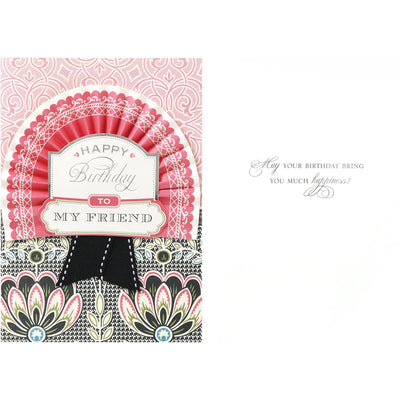 "Anna Griffin ""Happy Birthday My Friend"" Greeting Card, Bella Flor, Putti Fine Furnishings"