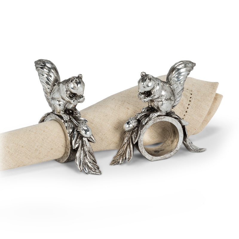 Squirrel Napkin Ring - Putti Fine Furnishings Canada