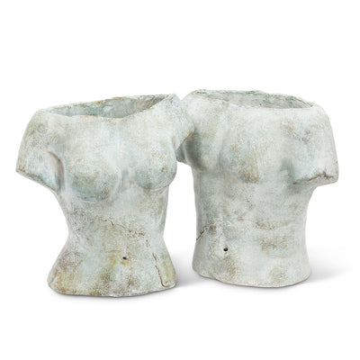Male Torso Planter  | Putti Fine Furnishings Canada