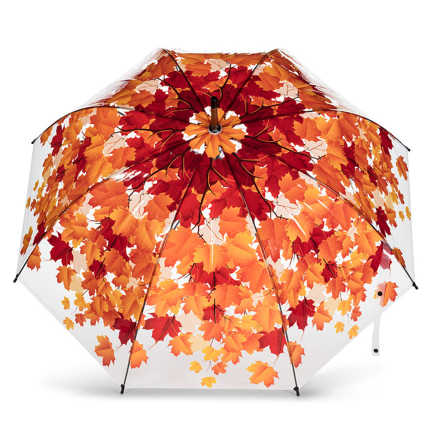 Bubble Umbrella with Autumn Leaves