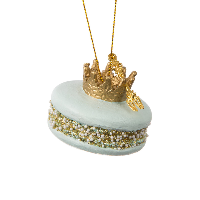 Macaron with Crown Ornament | Putti Christmas