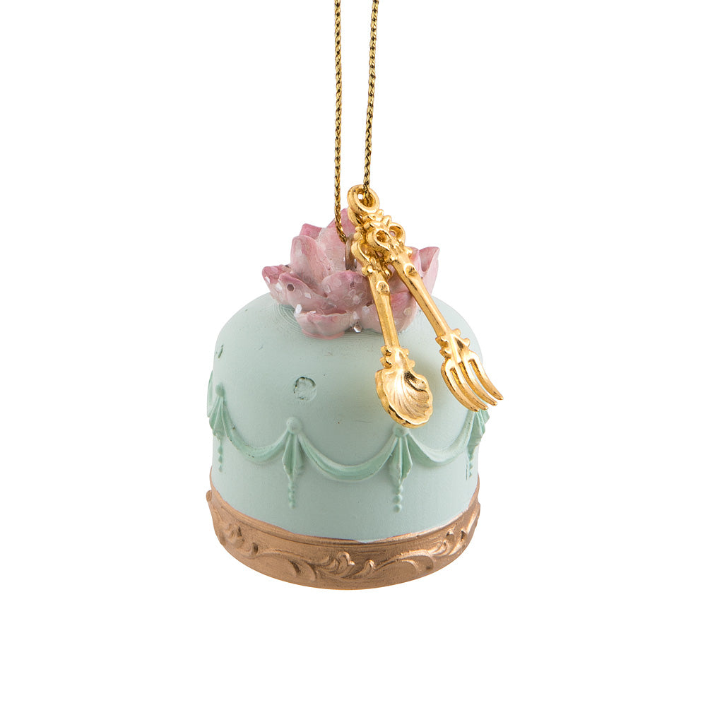 Mini Petit Fours Cake Ornament - Mint | Putti Christmas Canada