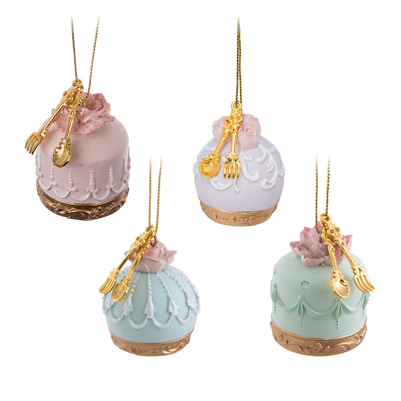 Mini Petit Fours Cake Ornament - Blue | Putti Christmas Canada