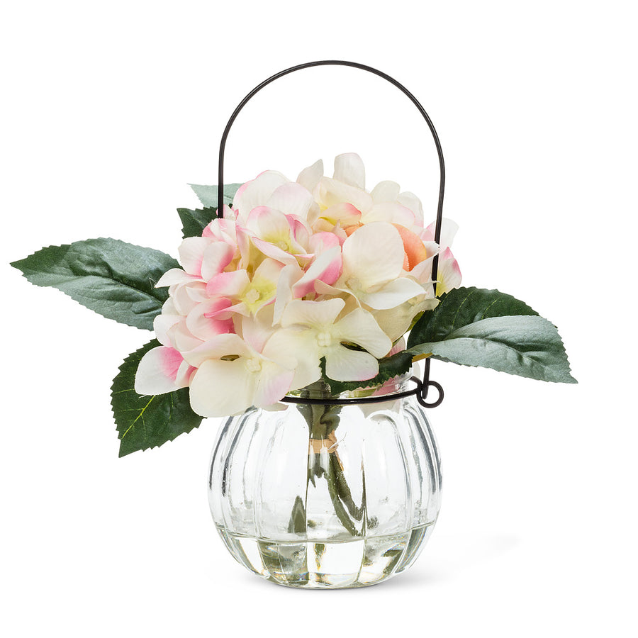 Light Pink Rose & Hydrangea Vase