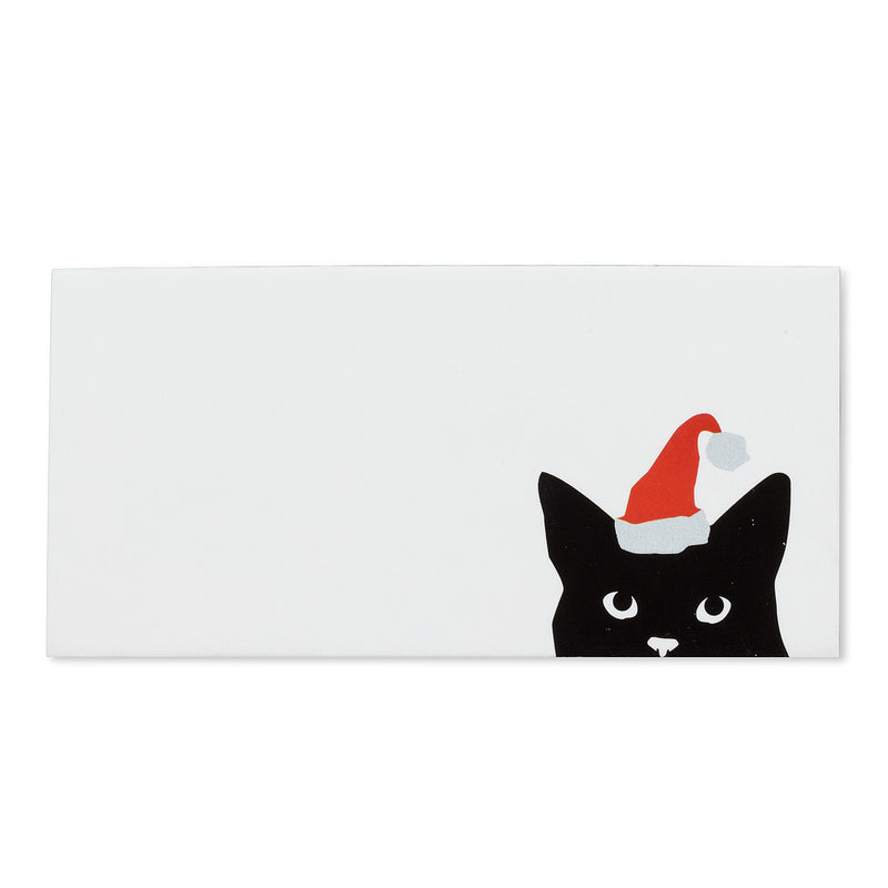 Cat with Santa Hat Christmas Place Cards