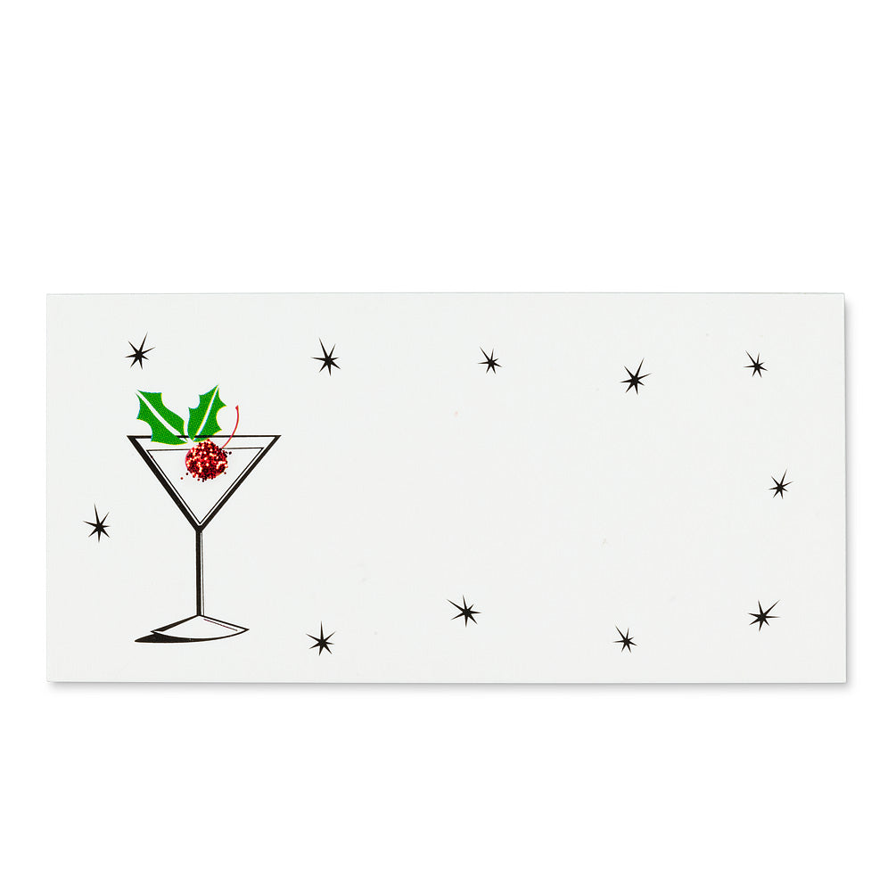 Cocktail with Glitter Placecards