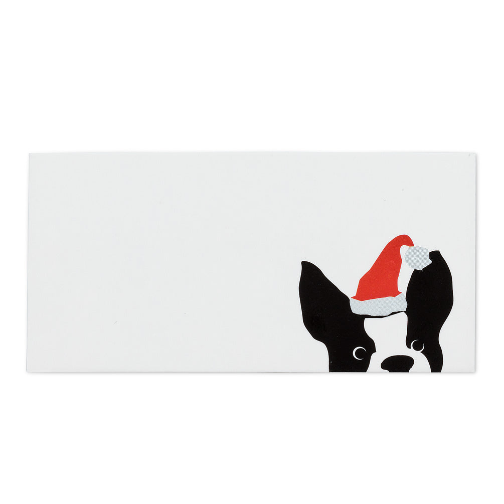 Dog with Santa Hat Place Cards