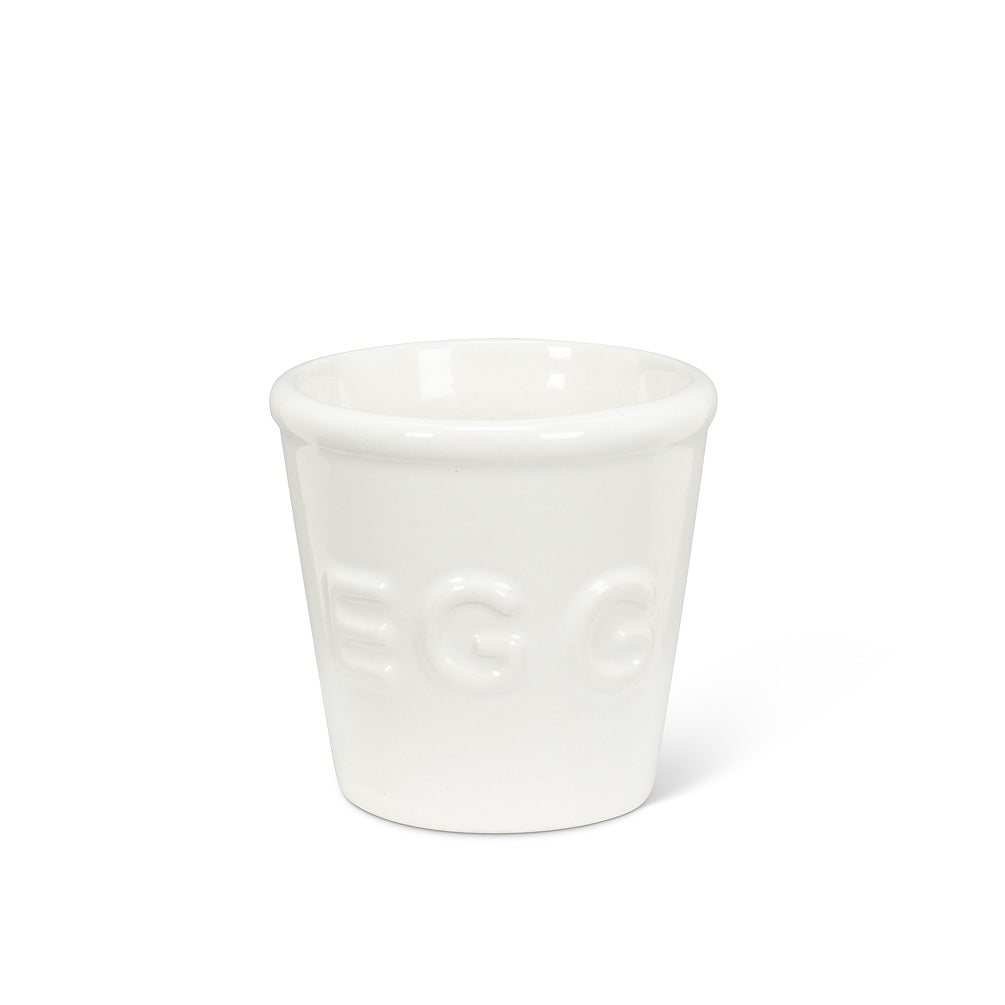 "Simple Egg Cup with ""EGG"" 