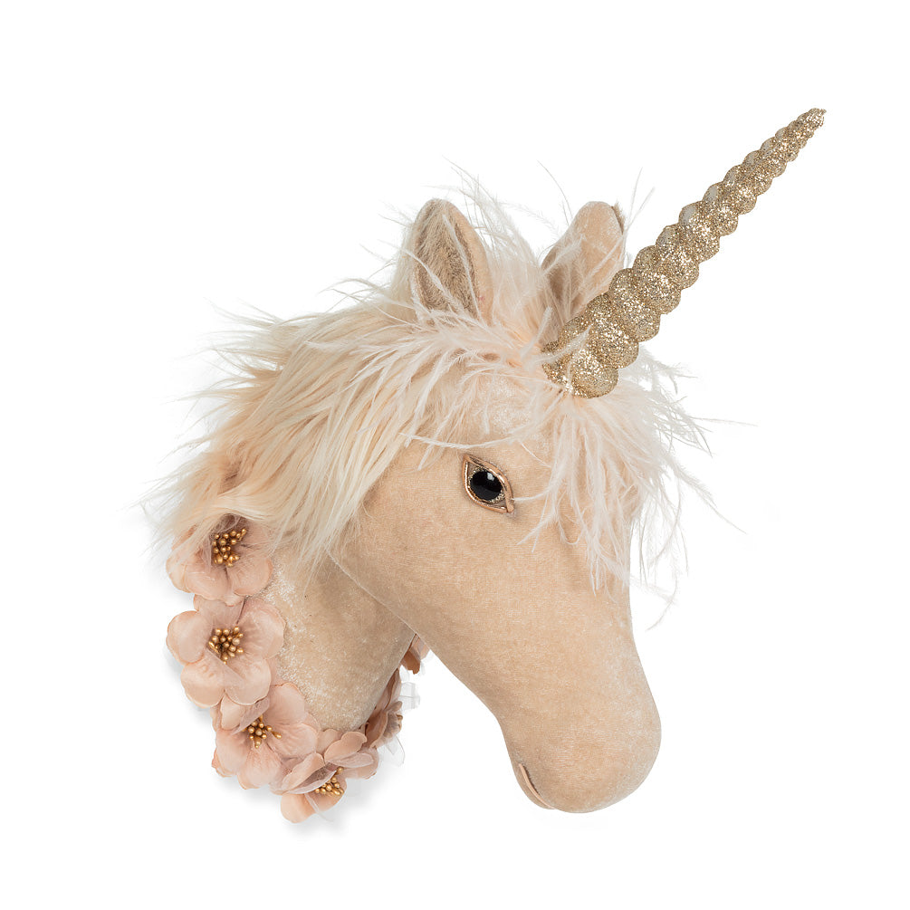 Wall Mount Unicorn Head with Garland | Le Petite Putti
