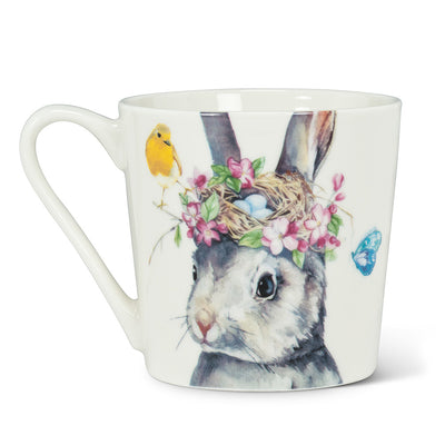 Rabbit with Nest Mug | Putti Fine Furnishings Canada