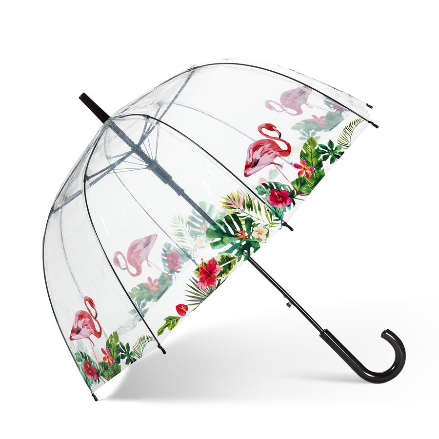 Bubble Umbrella with Flamingos