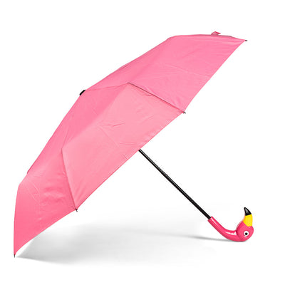 Flamingo Folding Umbrella - Putti Fine Fashions Canada