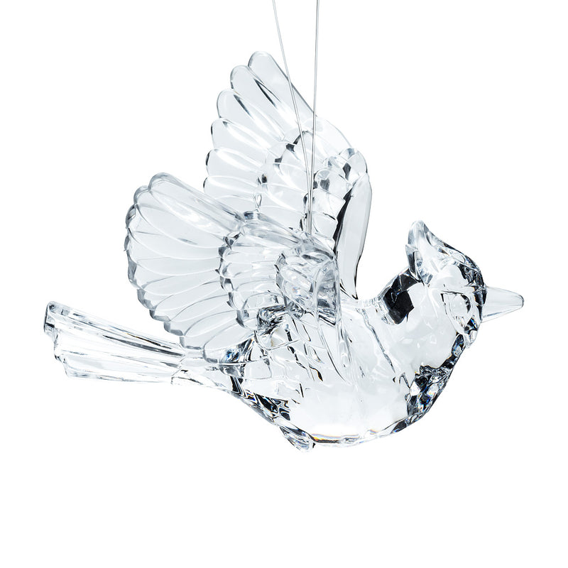 Clear Flying Cardinal Ornament | Putti Christmas Decorations Canada