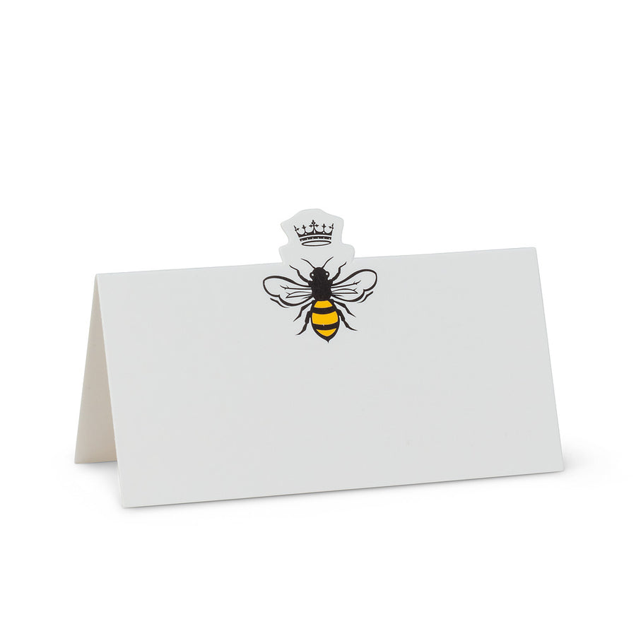 Bee and Crown Folded Placecards