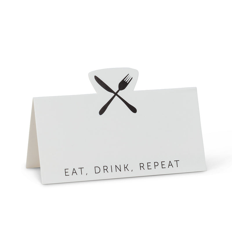 Eat, Drink, Repeat Folded Place Cards
