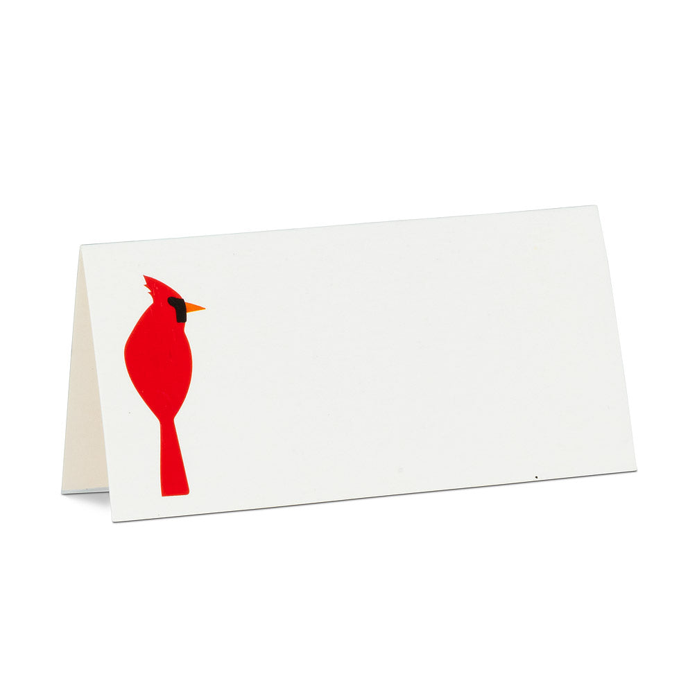 Single Cardinal Fold Over Placecards  | Le Petite Putti Celebrations  - Canada