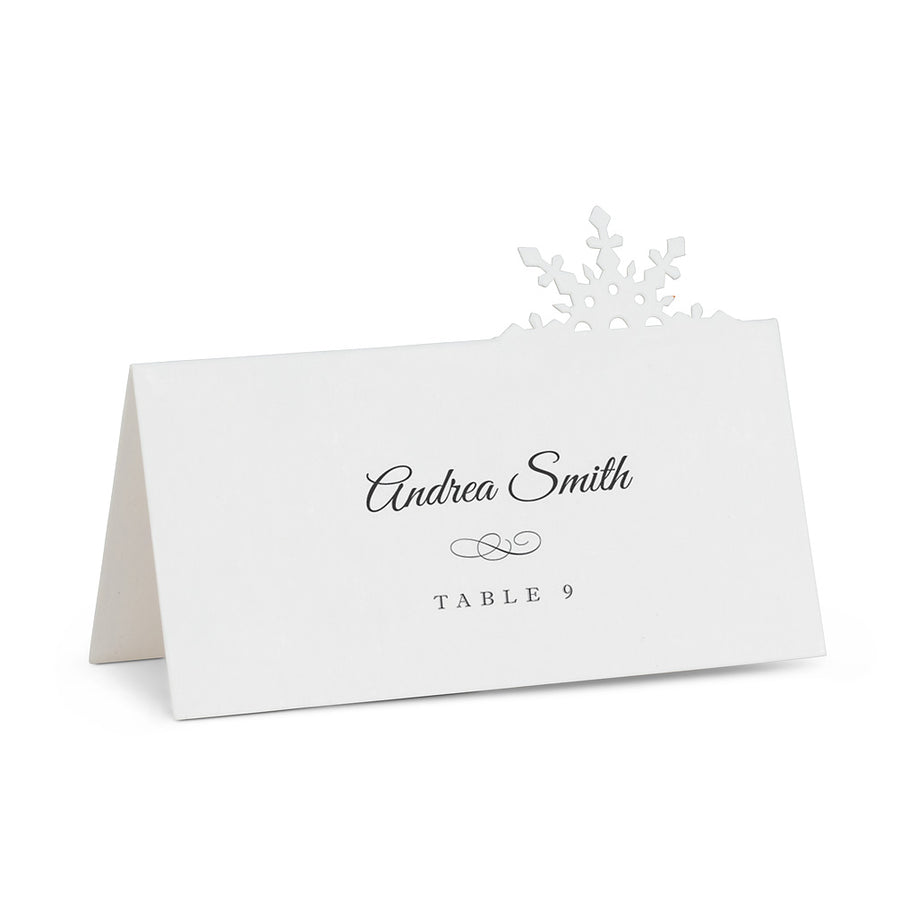 Cutout Snowflake Placecards