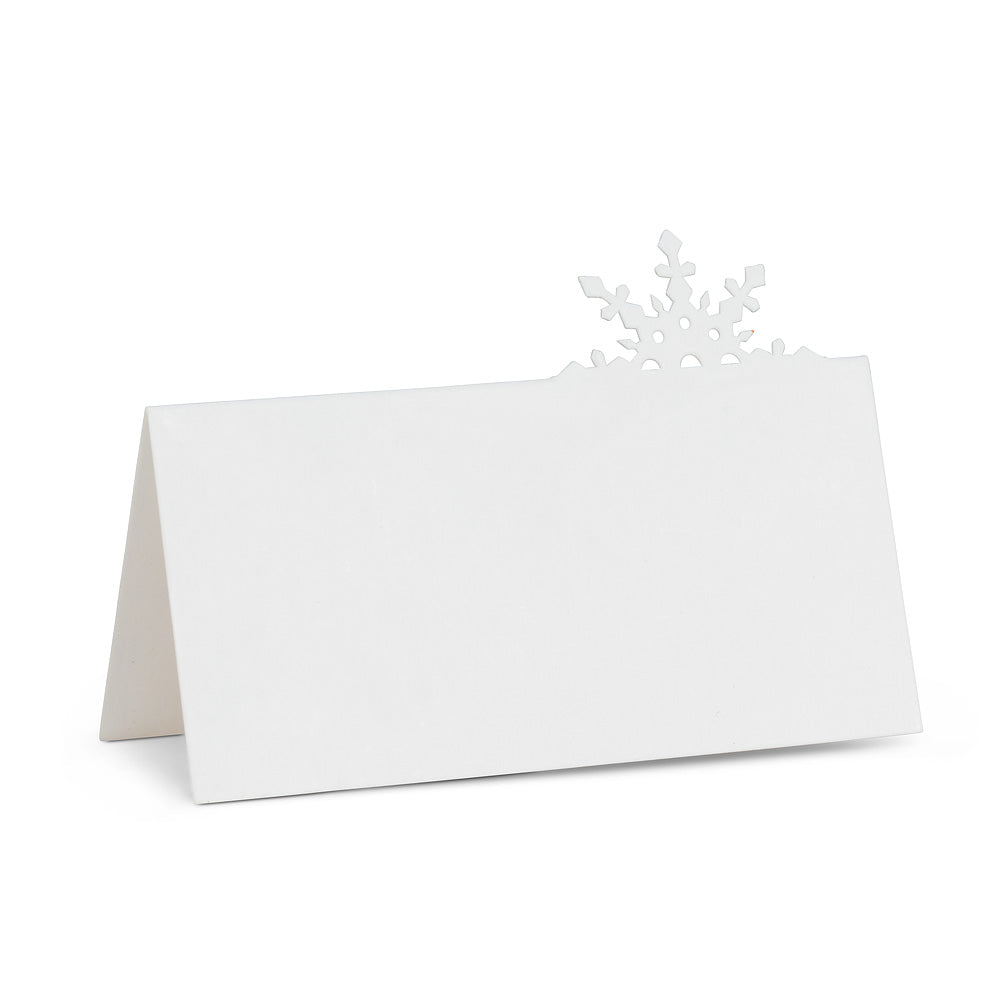 Cutout Snowflake Place Cards