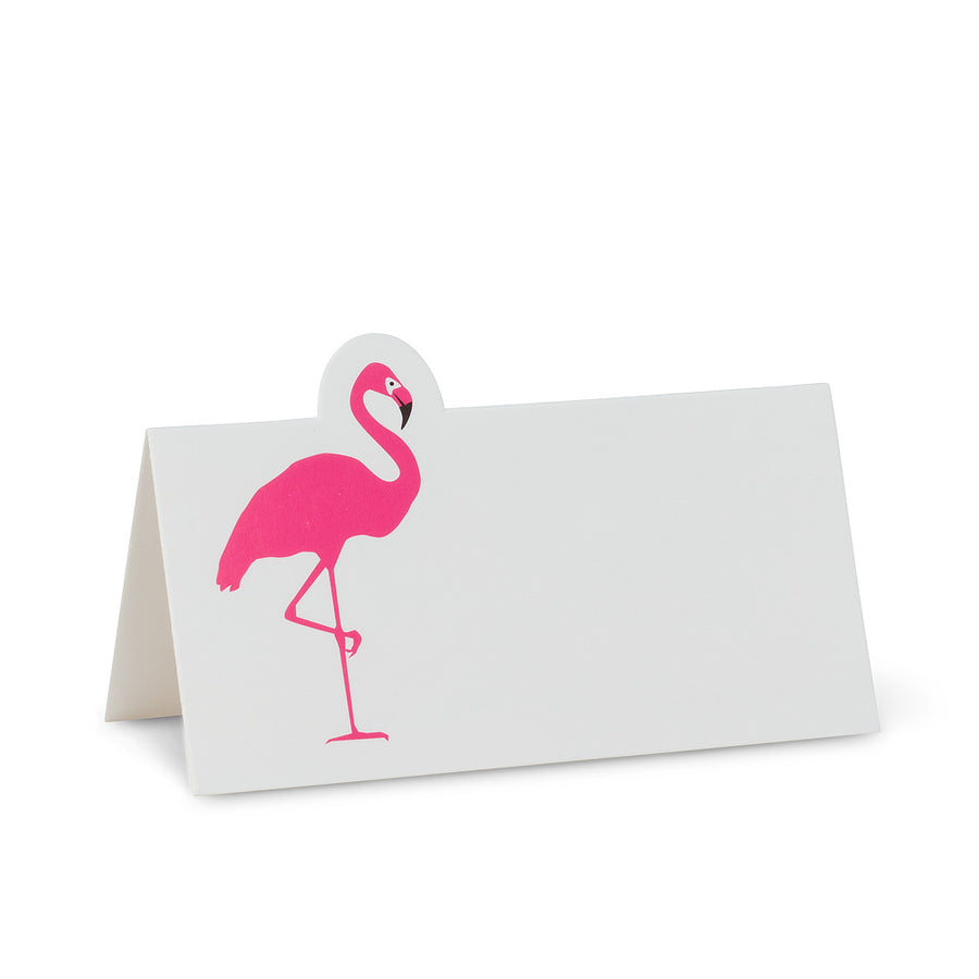 Flamingo Folded Placecards