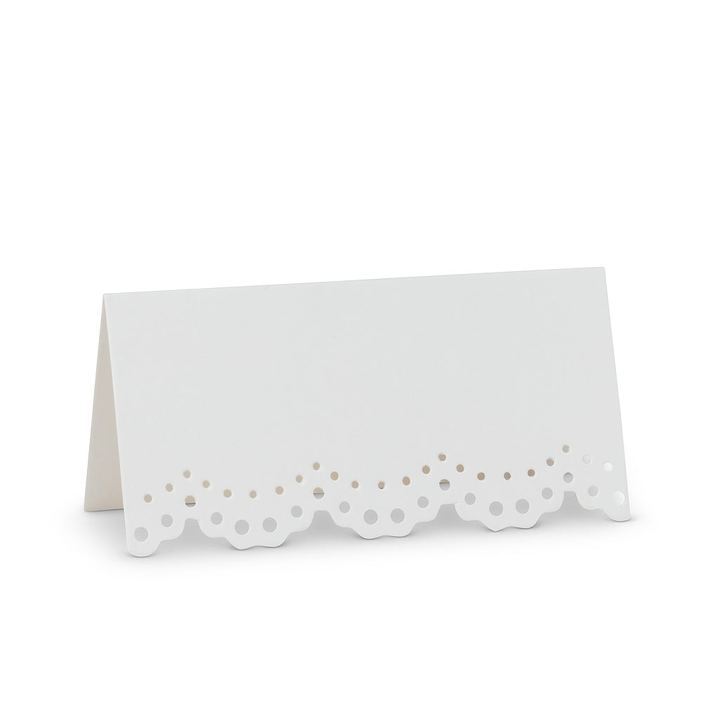 Lace Edge Folded Place Cards
