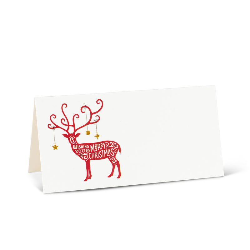Folding Reindeer Place Cards | Putti Christmas Celebrations Canada