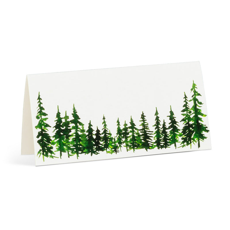 Evergreen Folded Placecards | Putti Fine Furnishings Christmas