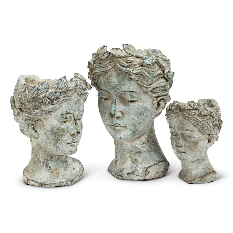 Woman Head Planter Extra Small - Putti Fine Furnishings Canada
