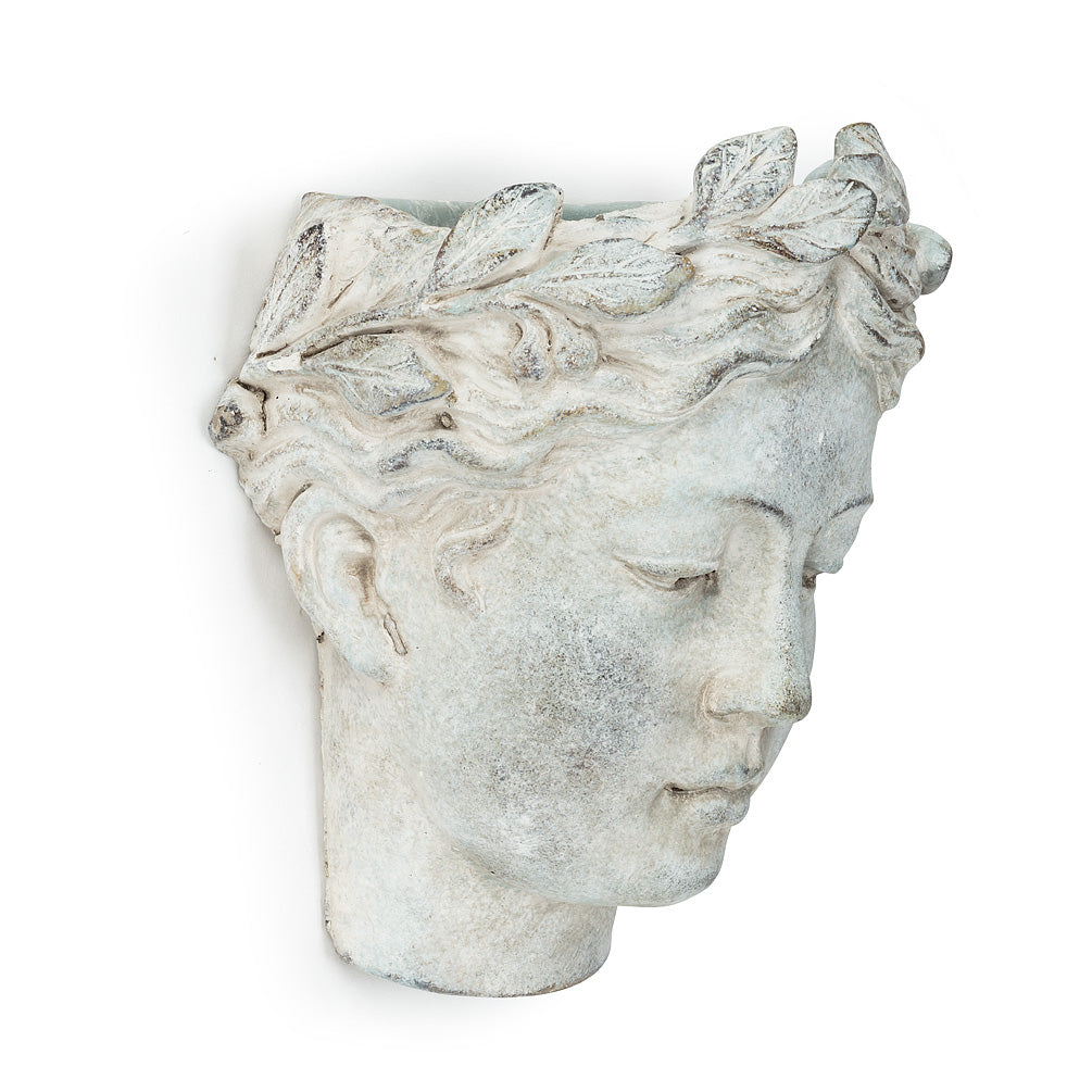 Woman Head Planter - Large - Putti Fine Furnishings Canada