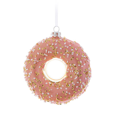 Sprinkle Donut Glass Ornament | Putti Christmas Celebrations Canada
