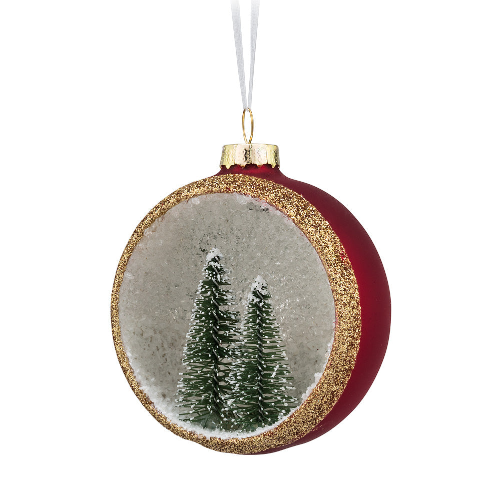 Half Ball with Tree Ornament