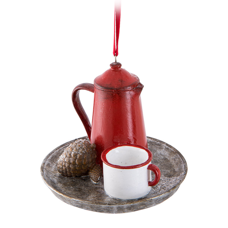 Coffee Pot & Cup Ornament | Putti Christmas Celebrations Canada