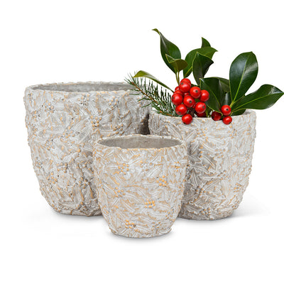 Holly & Berry Planter - Small | Putti Christmas Celebrations