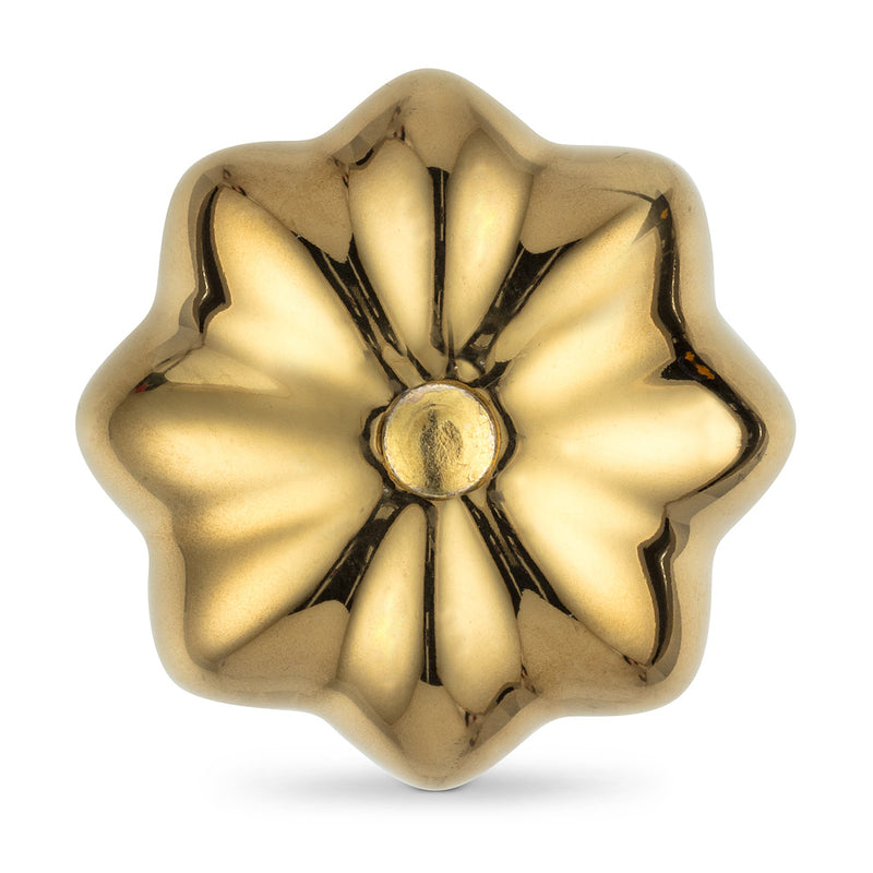 Gold Pumpkin Knob | Putti Fine Furnishings Canada