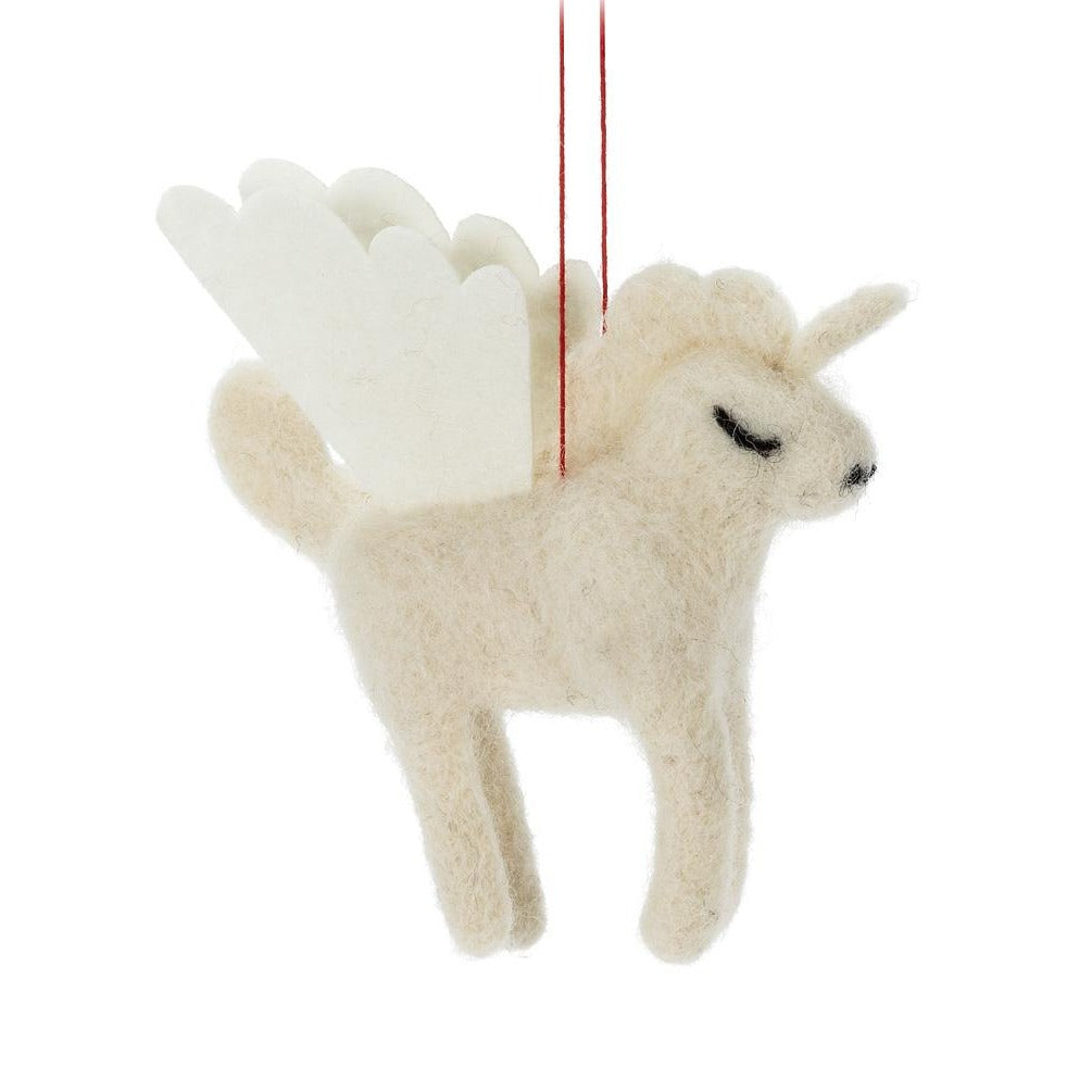 Unicorn Felted Ornament - Putti Christmas Canada